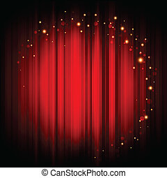 background with gold lights - Vector red abstract background...