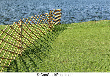 Bamboo fence in summertime, Thailand