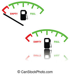 Image of a gas gauge illustration - Image of a gas gauge...