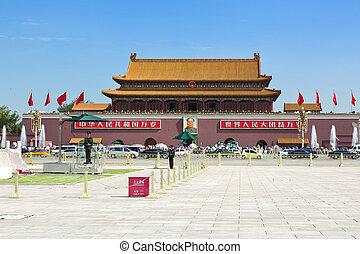 ciudad,  Tiananmen, cuadrado, prohibido,  Beijing