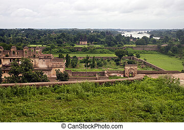 Old palace in Orchha, India