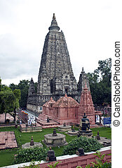 Mahabodhi temple in Bodhgaya, India. Bodhgaya is the place...