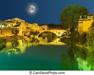 Bridge in Prato, Tuscany, Italy