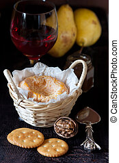 Cheese and wine - French cheese and red wine