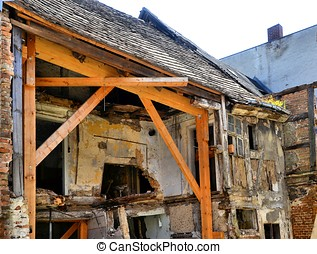 Protective measure to an old house