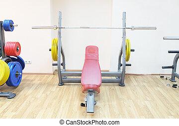 gym hall - Gym apparatus in a gym hall