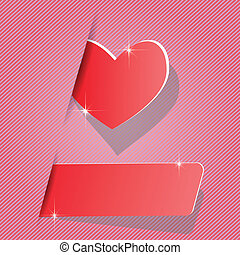 paper heart - colorful illustration with paper heart for...