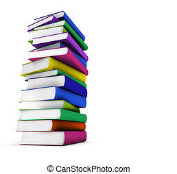 Colorful School Books - School, college and education...