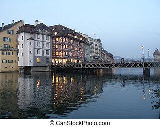Evening in Luzern, Switzerland