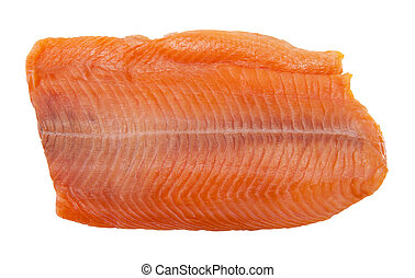 Salmon isolated on the white background