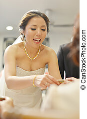 Traditional Asian Chinese wedding tea ceremony - Traditional...