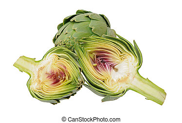 artichoke isolated on white