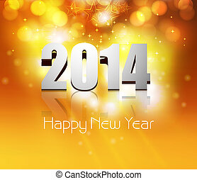 New year card stylish for beautiful holiday background vector