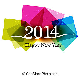 Happy new Year 2014 Beautiful celebration colorful...