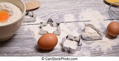 homemade baking on wooden