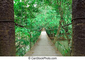 Narrow foot bridge