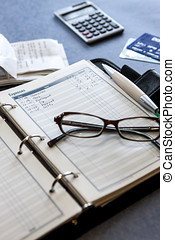 Tracking expenses. - An expense sheet with expenses and...