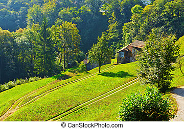 Farmhouse - The Small Village High Up in the Italian Alps