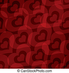 Valentine's day background with hearts seamless pattern