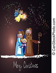Nativity Scene - nativity scene, jesus christ,