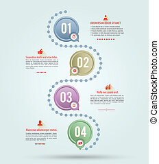 Circle line template - Infographics vector design template....