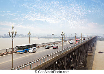 Nanjing, China - Nanjing, Yangtze River Bridge, built in...