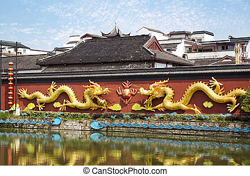 Nanjing, China - Beautiful nanjing confucius temple, China