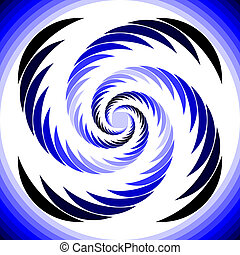 Design abstract circular whirl movement background