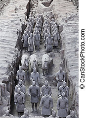 Xian, China - Beauriful view on the terracotta army in Xian,...
