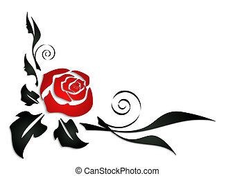 Abstract rose corner - Illustration of abstract rose corner...