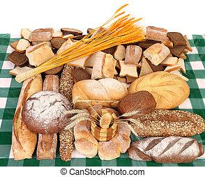 Marrom, branca, loafs, pão