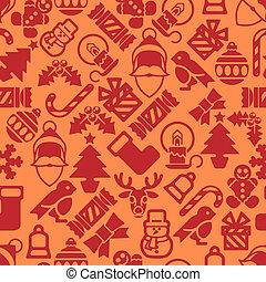 圖案, 現代,  seamless, 背景, 聖誕節