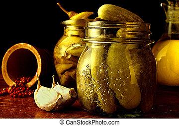 Jars of pickels