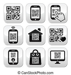 QR code on mobile or cell phone