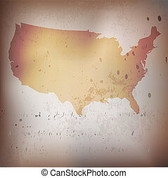 Old USA,American map