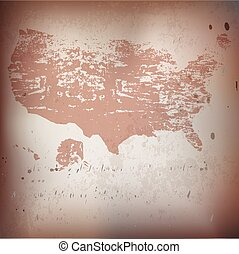 Old USA,American map - Old USA,American grunge map