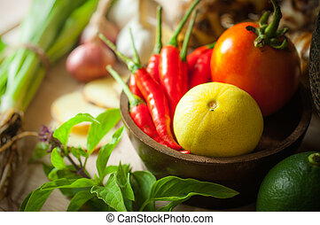 vegetable of food for tom yum element - vegetable of food...