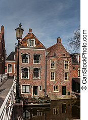 Old houses in the center of Appingedam, the Netherlands