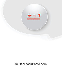 Vector white circle. Abstract background for design