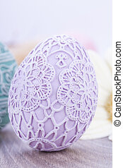 beautiful easter egg decoration colorfull eggs seasonal...