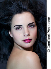Beautiful woman with a gentle serene expression -...