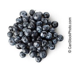 Handful of berries - Handful of blueberries isolated on a...