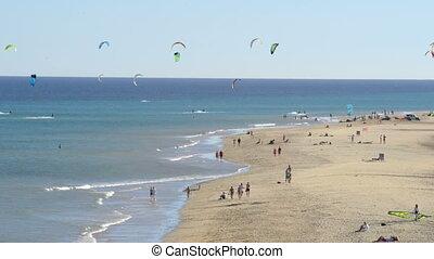 fuerteventura kitesurfer paradise 1 - A shot from...