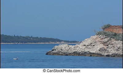 Fort, island, pan righ - Montenegro, Mamula island, pan...