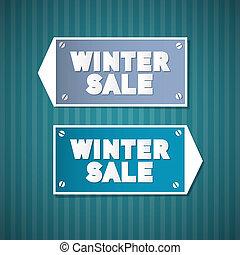 Winter Sale Retro Signs