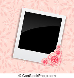 Instant photos with clip vector illustration
