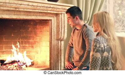 Fireplace Couple