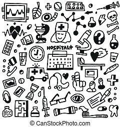 Medicine - doodles set