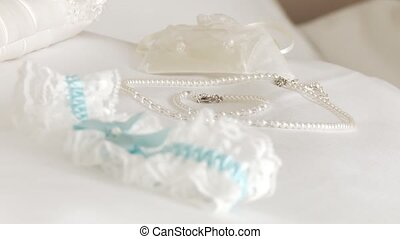 Garter, Wedding Dress - video footage of a garter with nice...