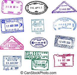 passport stamp - fine image of different passport stamp